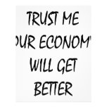 Trust Me Our Economy Will Get Better Customized Letterhead