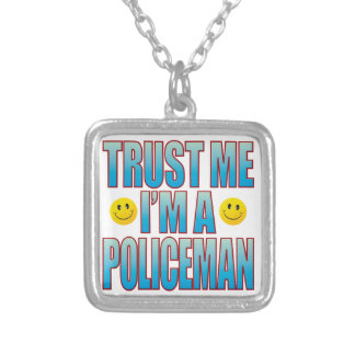 Trust Me Policeman Life B Silver Plated Necklace