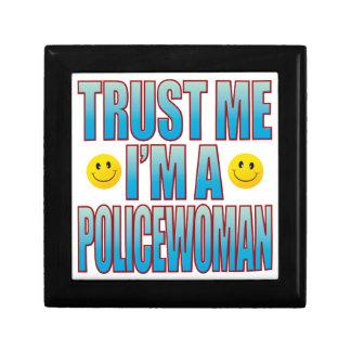 Trust Me Policewoman Life B Keepsake Box