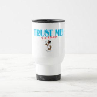 Trust Me RN Nurse with needle Travel Mug