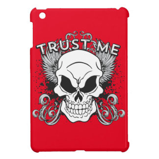 Trust Me Smiling Skull and Wings Cover For The iPad Mini