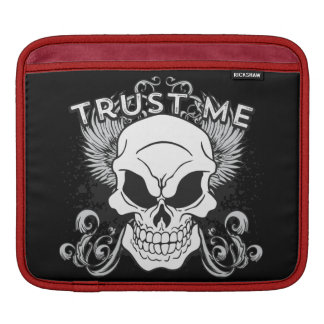 Trust Me Smiling Skull and Wings Sleeve For iPads
