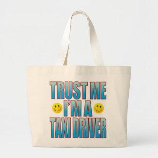 Trust Me Taxi Driver Life B Large Tote Bag