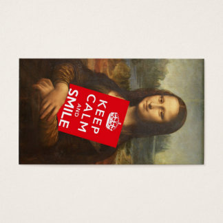 Trust Mona Lisa's Motto Business Card