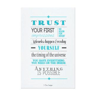 Trust Motivational Inspirational Quote Canvas Print