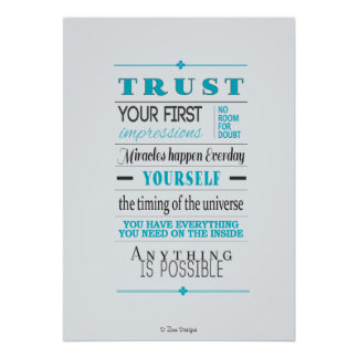 Trust Motivational Quote Poster