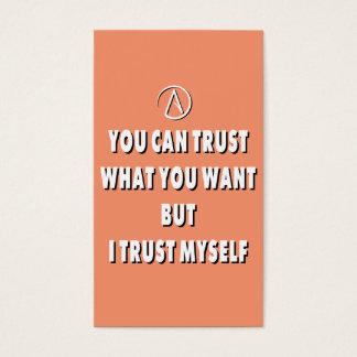 Trust myself business card