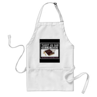 Trust No One Adult Apron