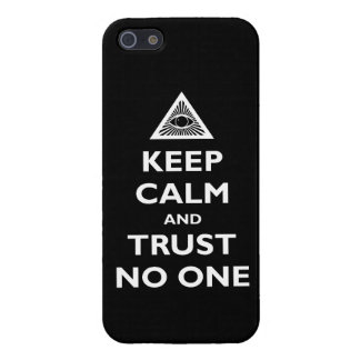 Trust no One iPhone 5 Cases