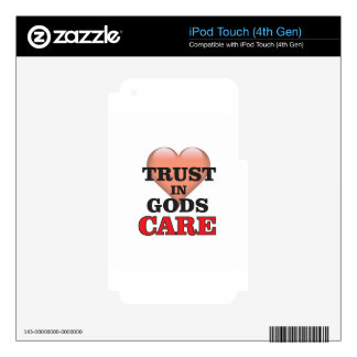 trust on gods care heart skins for iPod touch 4G