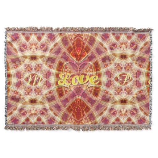 Trust on Love Geometric Art Woven Throw Blanket