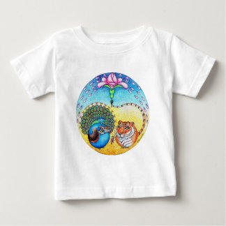 'Trust' Peacock and Tiger Baby T-Shirt