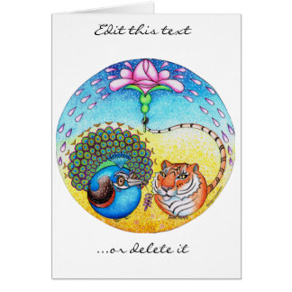 'Trust' Peacock and Tiger Card