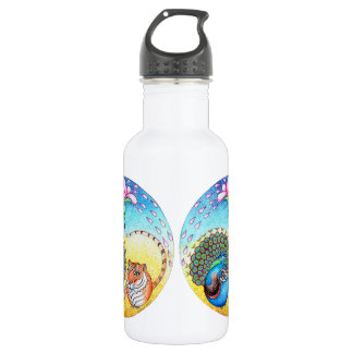 'Trust' Peacock and Tiger Stainless Steel Water Bottle