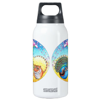 'Trust' Peacock and Tiger Thermos Bottle