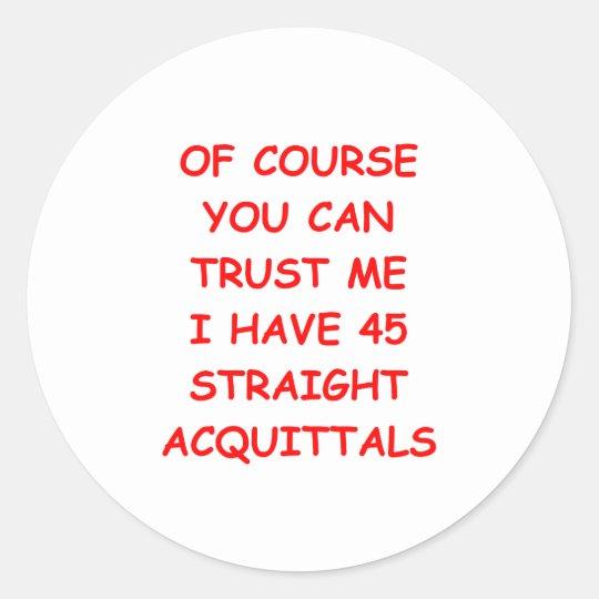 TRUST.png Classic Round Sticker