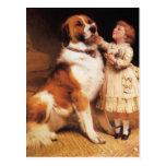 Trust (Saint Bernard) by Charles Burton Barber Post Card