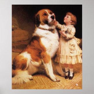 Trust Saint Bernard by Charles Burton Barber Poster
