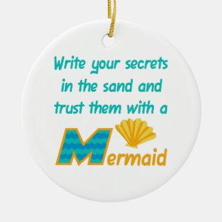 Trust Secrets To Mermaid Ceramic Ornament