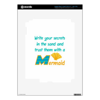 Trust Secrets To Mermaid iPad 3 Decals
