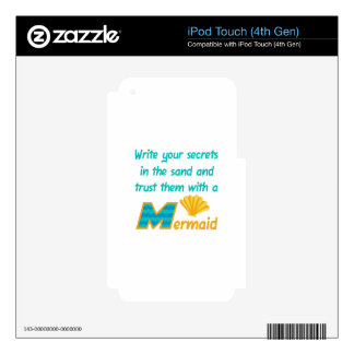 Trust Secrets To Mermaid iPod Touch 4G Decal