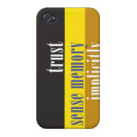 """""""Trust Sense Memory Implicitly"""" Case For iPhone 4"""