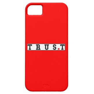 trust text message emotion feeling red dot square iPhone SE/5/5s case