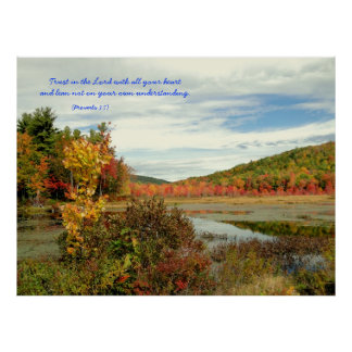 Trust the Lord, Fall Photography Christian Poster