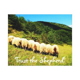 Trust the Shepherd Photo Gallery Wrap Canvas