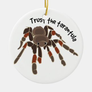 Trust The Tarantula Double-Sided Ceramic Round Christmas Ornament