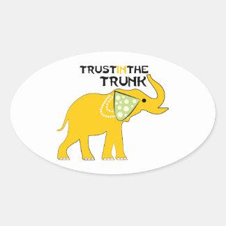 Trust The Trunk Oval Sticker