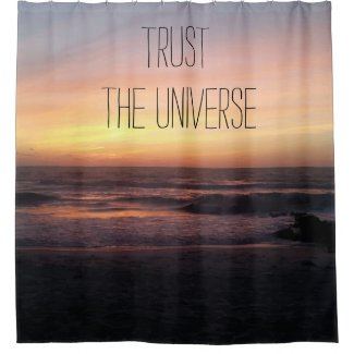 Beautiful Beach Sunset Print shower curtain