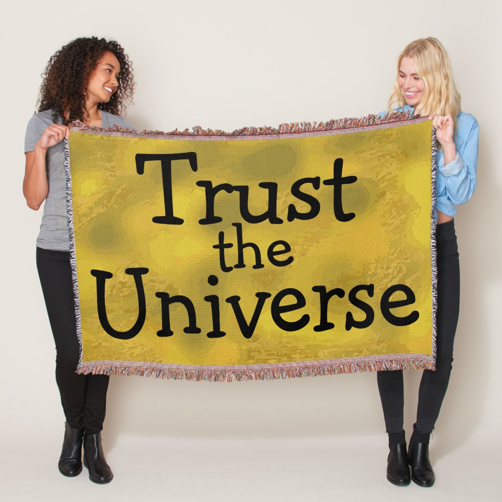 Fun Inspirational Quote Throw Blanket