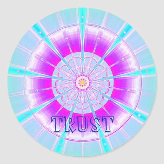 Trust (Virtue sticker) Classic Round Sticker