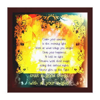 Trust With All Your Might Canvas Print