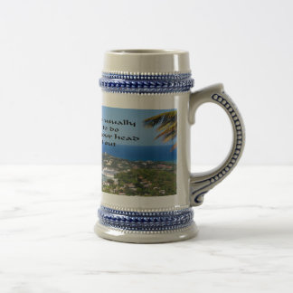 Trust your gut follow your instincts beer stein