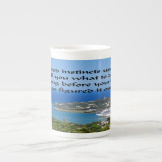 Trust your gut follow your instincts tea cup