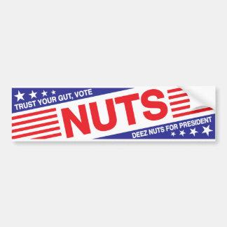 Trust Your Gut, Vote Nuts Bumper Sticker