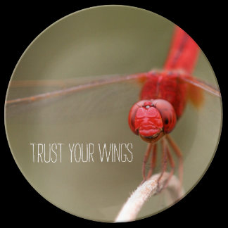 Trust Your Wings Dragonfly Custom Dinner Plate