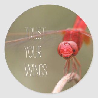 Trust Your Wings Dragonfly Custom Envelope Seals /
