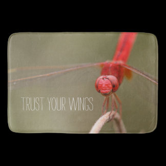 Trust Your Wings Dragonfly Custom Kitchen Mat /
