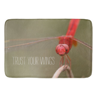 Trust Your Wings Dragonfly Custom Kitchen Mat / Bath Mat