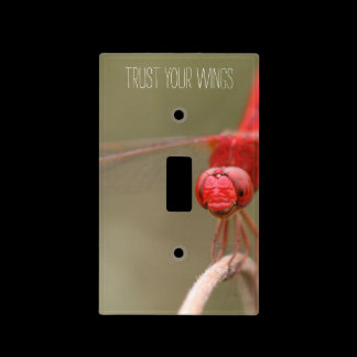 Trust Your Wings Dragonfly Custom Switch Plate /