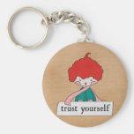 Trust Yourself By Linda Tieu Keychain