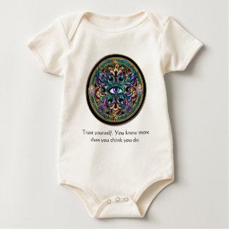 Trust Yourself ~ The Eyes of the World Mandala Baby Bodysuit