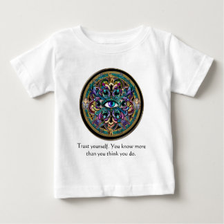 Trust Yourself ~ The Eyes of the World Mandala Baby T-Shirt