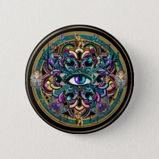 Trust Yourself ~ The Eyes of the World Mandala Button