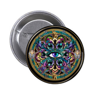 Trust Yourself ~ The Eyes of the World Mandala Buttons