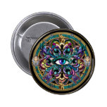 Trust Yourself ~ The Eyes of the World Mandala Pinback Button