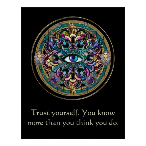 Trust Yourself ~ The Eyes of the World Mandala Poster